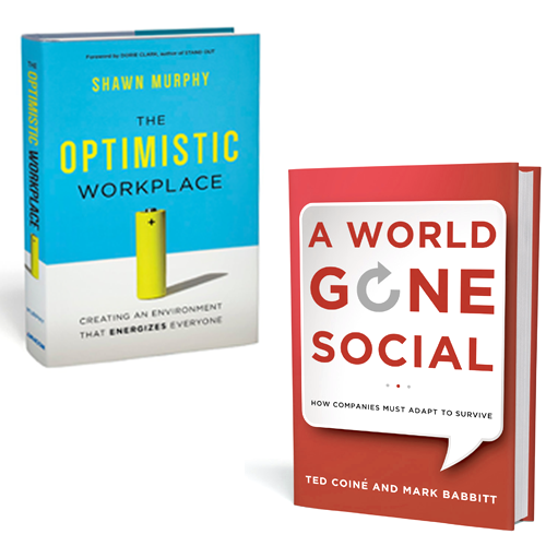 The Optimistic Workplace and A World Gone Social books
