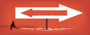 Arrow pointing two directions