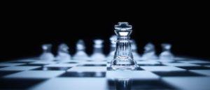 Glass King Chess piece