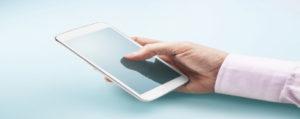 businessman using smart phone apps